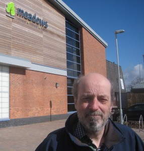 My old friend, fellow campaigner and former Councillor Bruce Hubbard outside the Leisure Centre