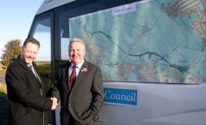 Me with the then Coalition Government Roads Minister Mike Penning sealing the deal to get the Link Road built in 2010