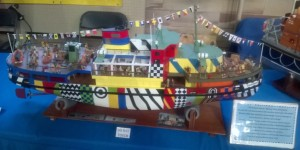Model of Dazzel painted Mersey Ferry - Snowdrop r