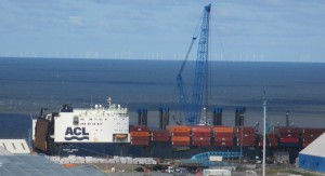 ACL container ship Atlantic Compass at Seaforth Dock.