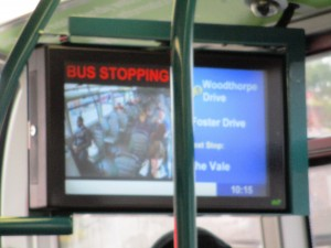 Display on No.58  Nottingham bus