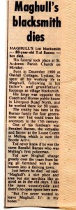 Maghull Advertiser press cutting from October 1981