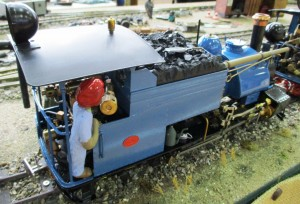 A beautiful Darjeeling live steam loco on 32mm track.