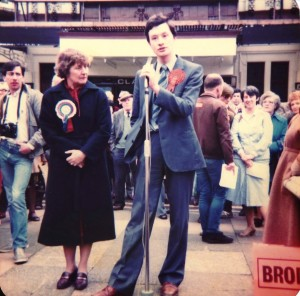 1983 General Election campaigning in Southport with a young Iain Brodie Browne.