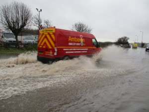 Making waves in Sefton Lane, Maghull.