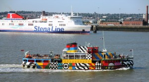 Mersey Ferry Snowdrop in the lead and in Dazzle paint.