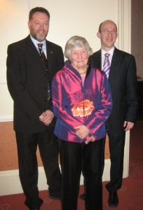 Myself and Richard Clein with Shirley at Tree Tops Restaurant