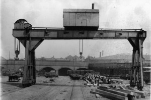 Goliath crane at Bankfield Goods yard @1910