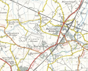 This scan of a 1958 based Ordnance Survey map shows the airfield's location.