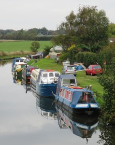 Boats at Mersey Motor Boat Club in Lydiate.