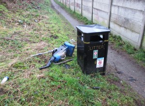 I shot I took quite a while back (before the volunteers started work) of the access path from Sefton Drive to the Cheshire Lines Path and the sadly dumped rubbish that the area often suffers from.