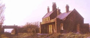This is the old Sefton & Maghull Station just prior to demolition in the early 1960's. A factory now stands on the site.