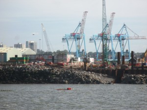 Work on the new River Berth taking place in August 2015