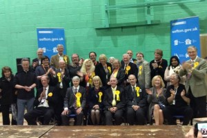 Southport's victorious Lib Dem Team - Photo credit Jamie Lopez