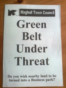 A Maghull Town Council leaflet from 1998 - Strangely this time round the now Labour-run Town Council did not fight the Green Belt grab.