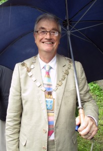 Iain Brodie Brown - Mayor of Sefton at the Leeds Liverpool Canal Bicentenary celebrations in Maghull
