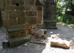Lydiate Abbey damage 06 06 16 r