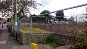 The site after the old library and youth centre had been demolished