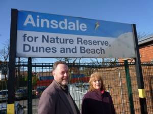 I found this photo of me with Lynne Thompson on Ainsdale Station back in 2011 when I was leader of Sefton Council and Lynne was fighting to get elected as a ward councillor for Ainsdale. In 2016 she won that battle I am pleased to say.