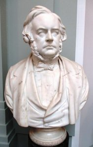 Marble bust of Bright