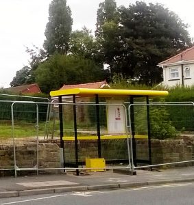 New bus shelter L'pool Rd Nth 09 16