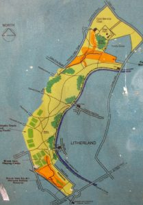 The bottom tip of Rimrose Valley Country Park gets to within half a mile of Seaforth docks.