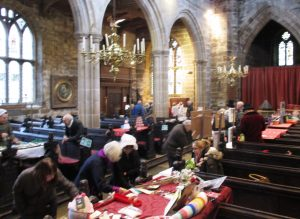 Sefton Church's Dickensian Fayre. You can see the candelabra I lit as a young chap for church services.