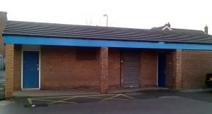 Maghull's closed public toilets at the Square Shopping Centre.