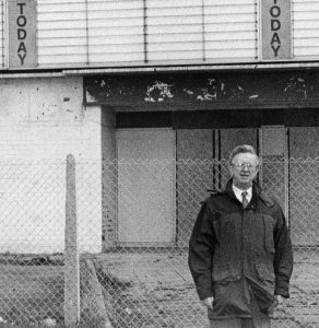 Jim at the then derelict site of the former Albany Cinema, where Lidl is now of course.